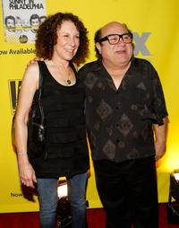 Rhea Perlman and Danny DeVito at the Season 4 DVD launch party of