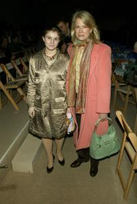 Candice Bergen and daughter at the Cynthia Rowley Fall 2004 fashion show during Olympus Fashion Week.