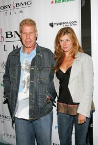 Ron Perlman and Connie Britton at the premiere party of