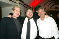 Ron Perlman, Guillermo Del Toro and Joe Roth at the premiere of
