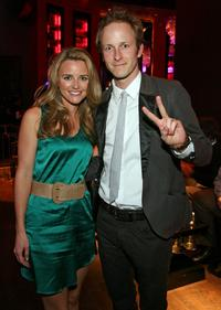 Trilby Glover and Christopher Redman at the after party of the world premiere of
