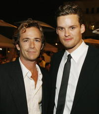 Luke Perry and Austin Nichols at the premiere of