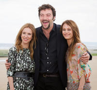 Lea Drucker, Denis Menochet and Vanessa Paradis at the 26th Cabourg Romantic Film Festival in France.