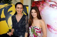 Anyes Galleani and Ashley Greene at the 2008 DPA Garden Party gift suite.