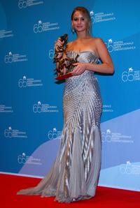 Jennifer Lawrence at the 65th Venice Film Festival Closing Ceremony Press Conference.