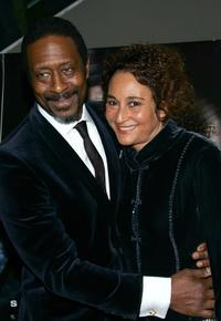 Clarke Peters and Guest at the New York premiere of