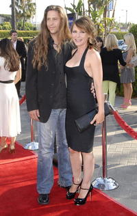 DeDee Pfeiffer and a guest at the premiere of