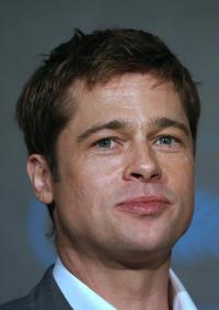 Brad Pitt at the press conference of