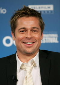 Brad Pitt at the Toronto press conference for