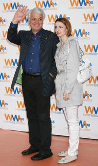 Michele Placido and Guest at the 2008 Wind Music Awards.
