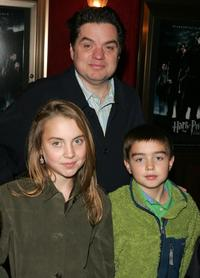 Oliver Platt and the children at the premiere of