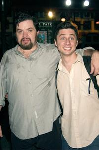 Oliver Platt and Zach Braff at the 2002 Joseph Papp Public Theater Reception.