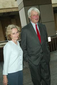 George Plimpton and his wife at a special screening of