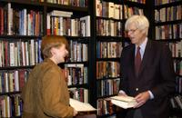 George Plimpton and Maile Meloy at the 50th anniversary