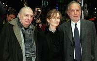 Director Claude Chabrol, Isabelle Huppert and Francois Berleand at the premiere of