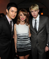 Harry Shum, Jr., Jayma Mays and Chord Overstreet at the GQ 2010