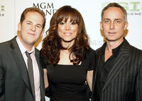 David Berman, Liz Vassey and Wallace Langham at the Grand Opening of