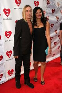Iggy Pop and Nina Alu at the 5th Annual MusiCares MAP Fund Benefit Concert.