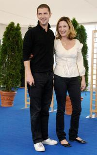 Melvil Poupaud and Zoe Cassavetes at the photocall of