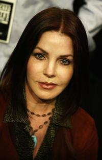 Priscilla Presley at the WBC Heavyweight Championship fight between Vitali Klitschko and Corrie Sanders.