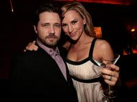 Jason Priestley and Naomi Lowde-Priestley at the Mediaplacement Holiday Party.