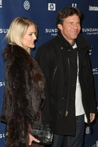 Dennis Quaid and Kimberly Buffington at the premiere of