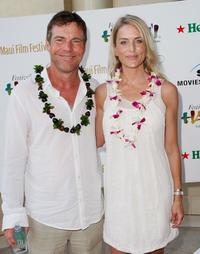 Dennis Quaid and his wife Kimberly Quaid at the 2008 Maui Film Festival.
