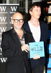 R.E.M. and David Belisle at the book signing of