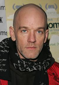 R.E.M. at the premiere of