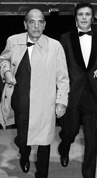 Francisco Rabal and Luis Bunuel at the Cannes film festival.