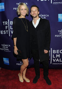 Ruta Gedmintas and director Mat Whitecross at the premiere of