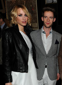 Ruta Gedmintas and Luke Treadway at the Tommy Hilfiger Fall 2011 Men's Collection in New York.