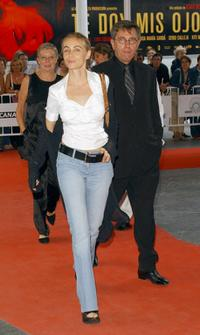 Emmanuelle Beart and Jerzy Radziwilowicz at the 51 San Sebastian International Film Festival.