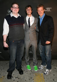 Brandon Hardesty, Chad Jamian Williams, and William H. Macy at the after party of the premiere of