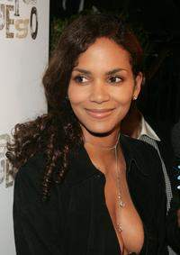 Halle Berry at the exclusive tasting at Cafe Fuego.