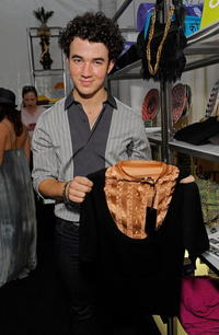 Kevin Jonas at the Official Silver Spoon Gifting Lounge during the 2008 American Music Awards.