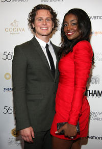 Jonathan Groff and Patina Miller at the 56th Annual Drama Desk Awards in New York.
