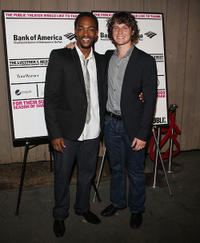 Anthony Mackie and Jonathan Groff at the opening night of
