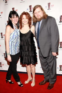 Lee Silverman, Deirdre O'Connell and Michael Chernus at the 26th Annual Lucille Lortel Awards in New York City.