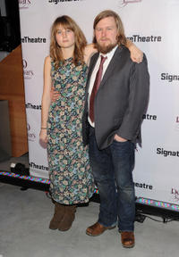 Annie Baker and Michael Chernus at the Signature Center Opening gala in New York City.