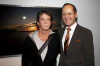 Lou Reed and Robert Chavez at the opening of Lou Reed NY photography exhibit.