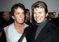 Lou Reed and David Bowie at the opening of Lou Reed NY photography exhibit.