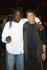 Wyclef Jean and Lou Reed at the American Civil Liberties Unions Freedom Concert after party.