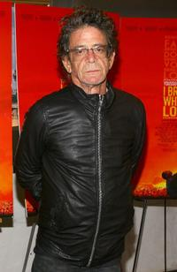 Lou Reed at the premiere of
