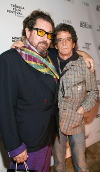 Julian Schnabel and Lou Reed at the after party of