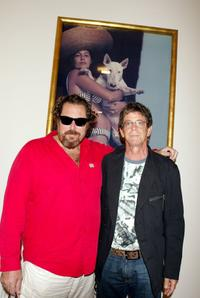 Julian Schnabel and Lou Reed at the annual Polaroid Benefit Auction for Free Arts.