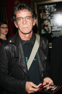 Lou Reed at the New York premiere of