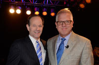 Eliot Spitzer and Glenn Beck at the Dish Network