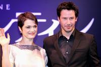 Keanu Reeves and Rachel Weisz at a press conference of the film