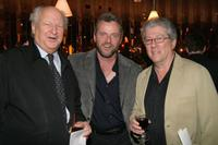 Bobby Karem, Aidan Quinn and Peter Riegert at the New York Stage and Film 2004 Gala.